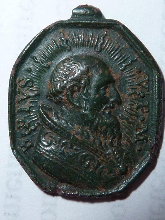 SUPERBE médaille PIE V / ND-du-Rosaire  3093tj10