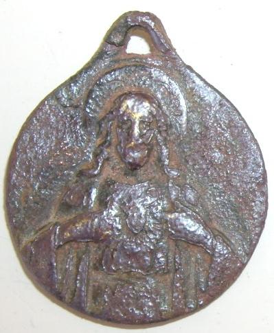 Médaille Christ (en sa qualité de Sacré Coeur) Fin XIXe ou début XXe siècle Imgp4223