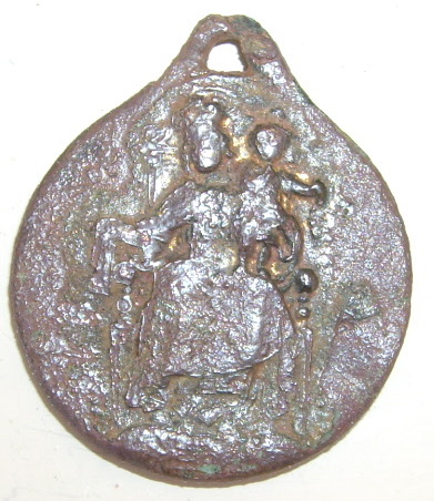 Médaille Christ (en sa qualité de Sacré Coeur) Fin XIXe ou début XXe siècle Imgp4224