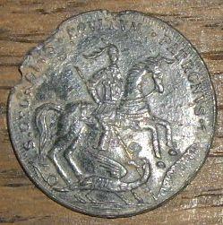 2 Médailles St-Georges / Jésus & 2 disciples en mer - XVIII ou XIXème Photo_29