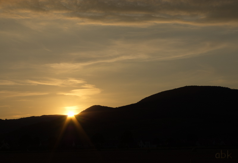 Coucher de Soleil sur les Vosges Couchy10