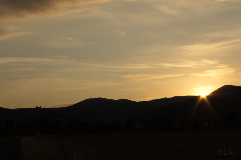 Coucher de Soleil sur les Vosges Couchy11