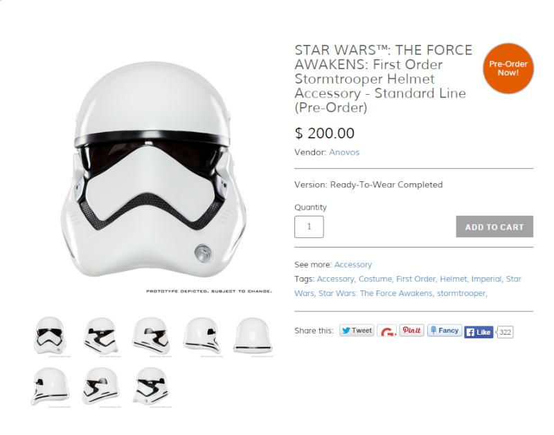 ANOVOS STAR WARS : First Order Stormtrooper Helmet Captur10