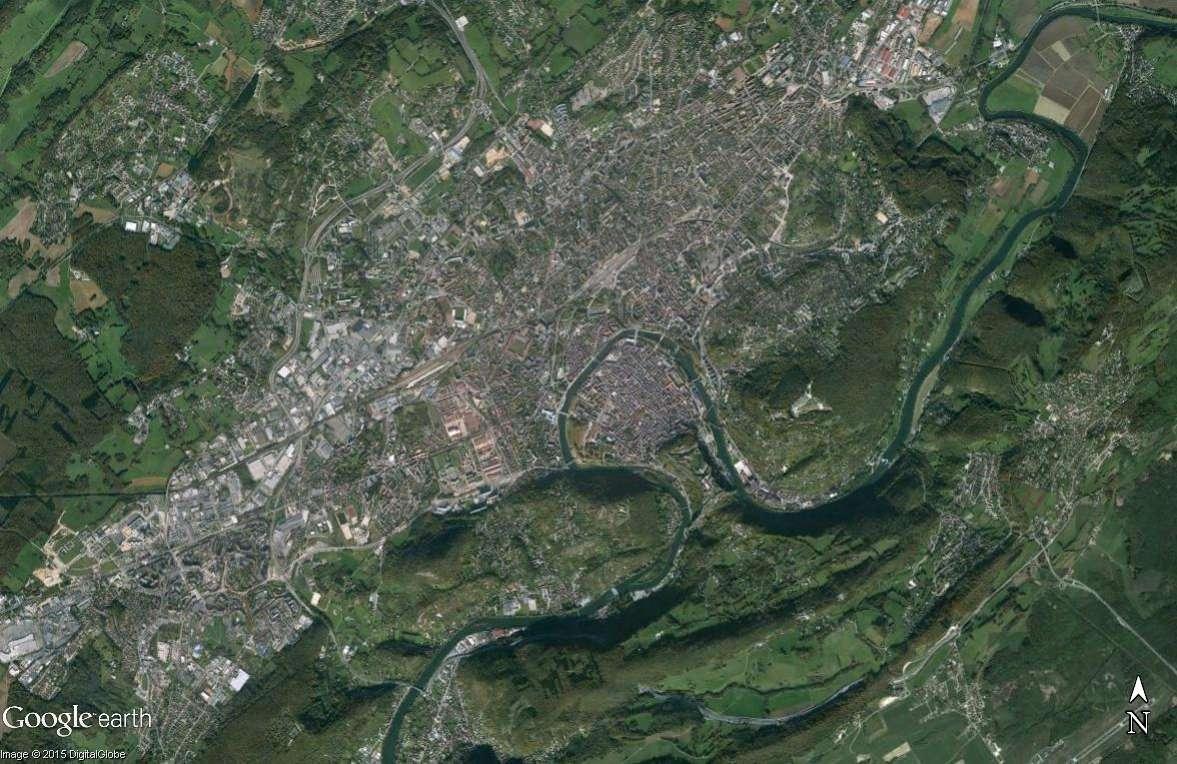 Les villes installées à l'abri d'un méandre Besany10