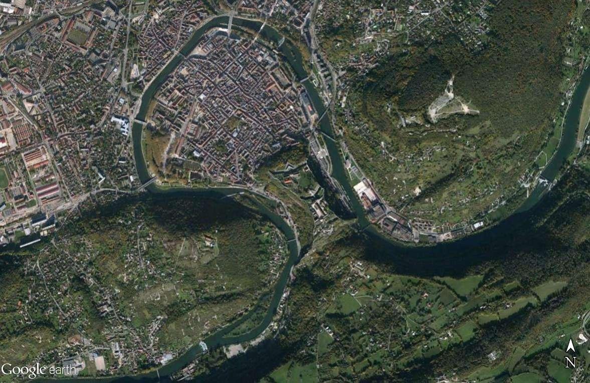 Les villes installées à l'abri d'un méandre Besany11