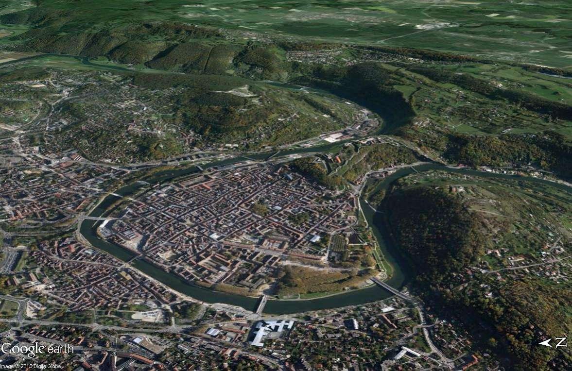 Les villes installées à l'abri d'un méandre Besany13