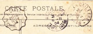 Les cachets des courriers convoyeurs lignes 1904-111