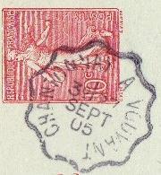 Les cachets des courriers convoyeurs lignes 1905-011