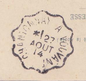 Les cachets des courriers convoyeurs lignes 1914-010