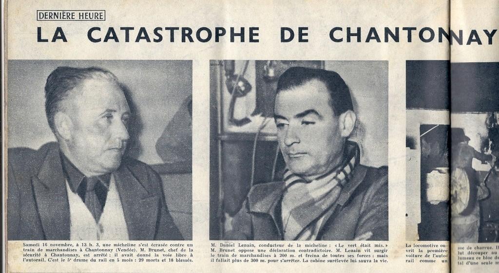 16 novembre 1957 - Catastrophe ferroviaire de Chantonnay 1957-113