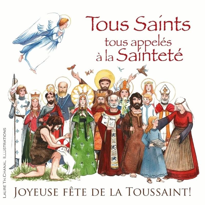 NON, NON et NON !! LA TOUSSAINT N'EST PAS LA FÊTE DES MORTS !!! La Toussaint est le jour de LA GRANDE FÊTE DE TOUS LES SAINTS DU CIEL ! Toussa10