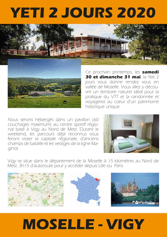 yéti2jours 2020 le 30 et 31 mai à Vigy Nord de Metz Flyer_12