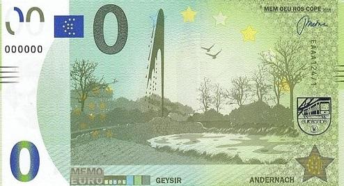Billets Memo Euro scope 12410