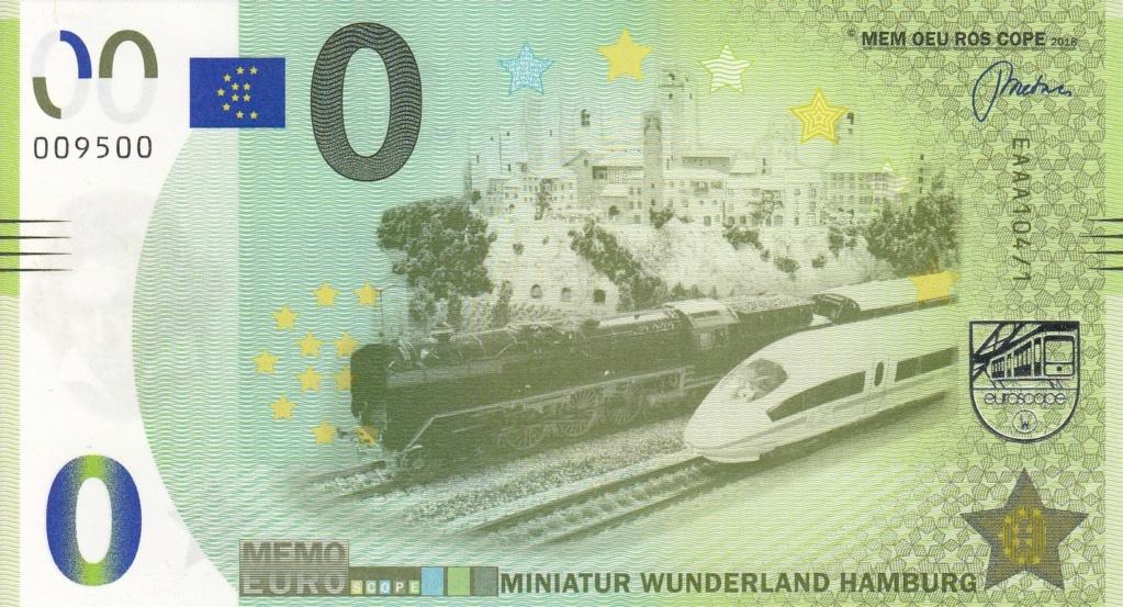 Billets Memo Euro scope A10410