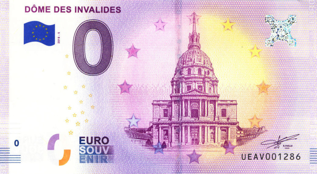 Billets 0 € Souvenirs  [Paris = 81] Av201810