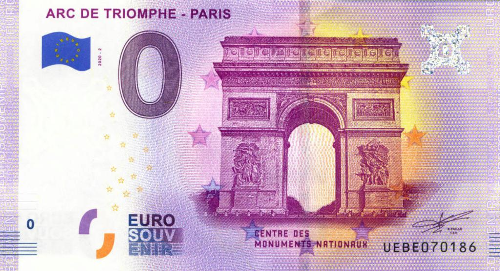 Billets 0 € Souvenirs  [Paris = 81] Be10