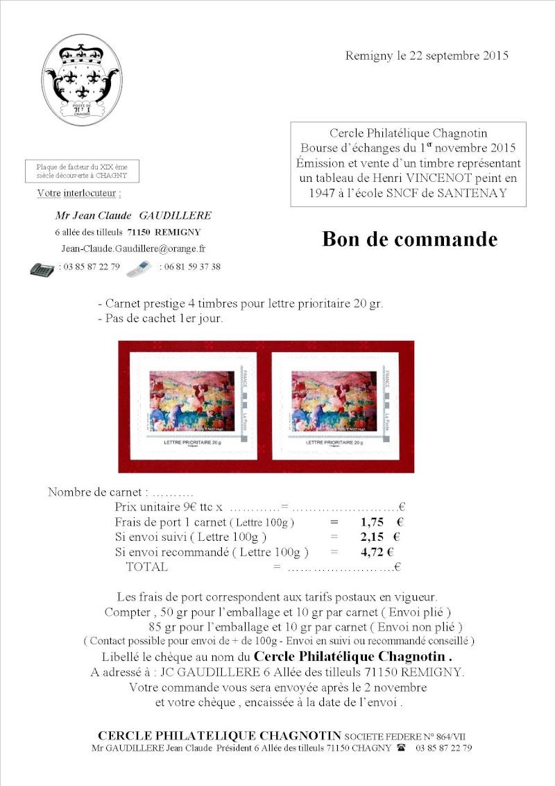 71 - Chagny - Cercle Philatélique Chagnotin Bon_de13