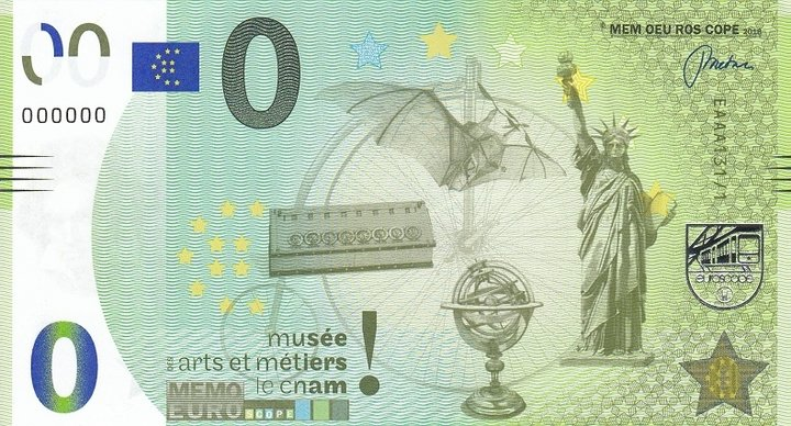 Billets Mémo Euro Scope = 4 Cnam10