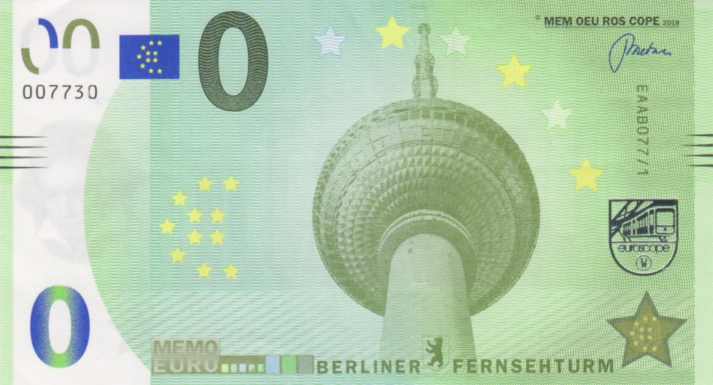 Billets Memo Euro scope Eaab0710