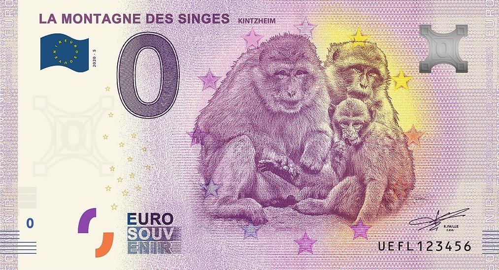 Billets 0 € Souvenirs  = 37 Fl10