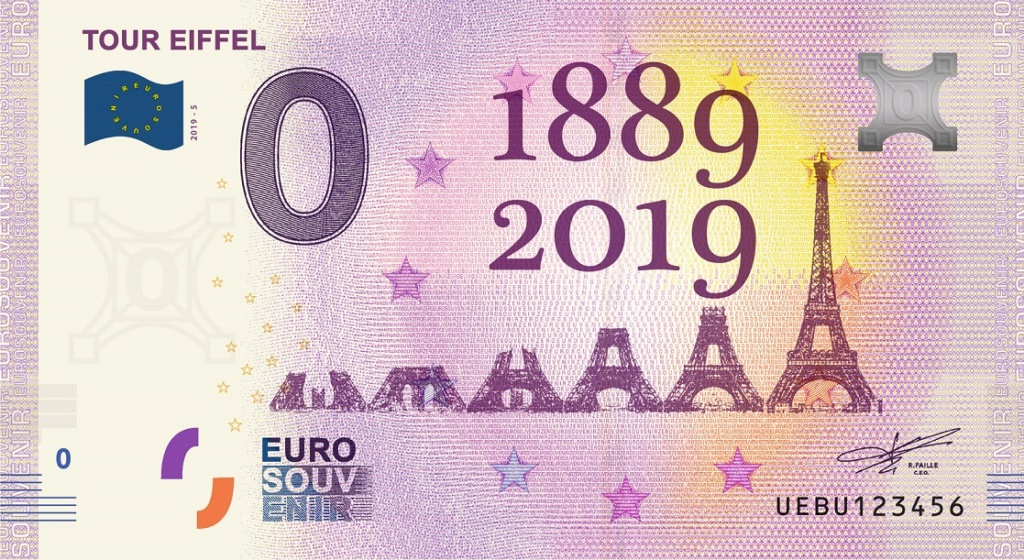 Billets 0 € Souvenirs  [Paris = 81] Fra_ue18