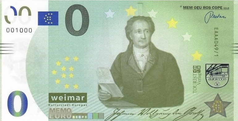 Liste codes Memo Euro scope [001 à 100] Goethe10