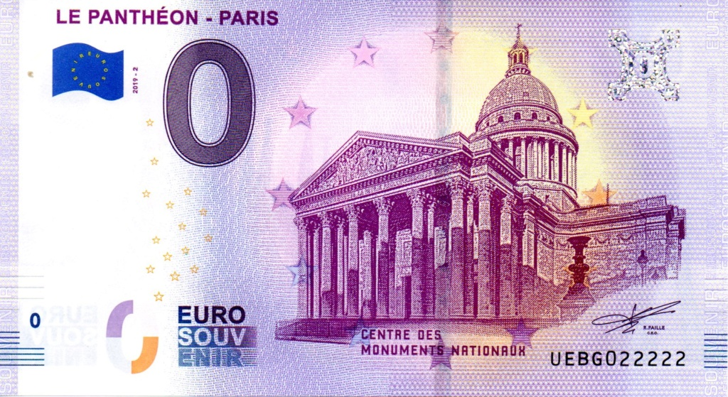 Billets 0 € Souvenirs  [Paris = 81] Panthe11