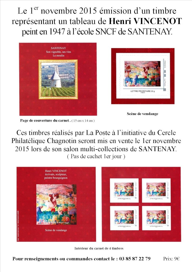 71 - Chagny - Cercle Philatélique Chagnotin Pub_ca10