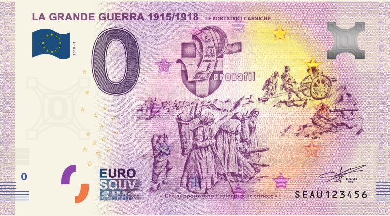 Billets Euro-Souvenirs 2018  Seau2010