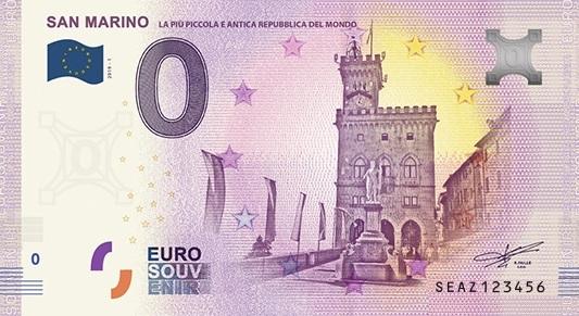 Billets Euro-Souvenirs 2019 Seaz10