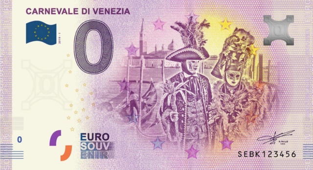 Billets Euro-Souvenirs 2019 Sebk10