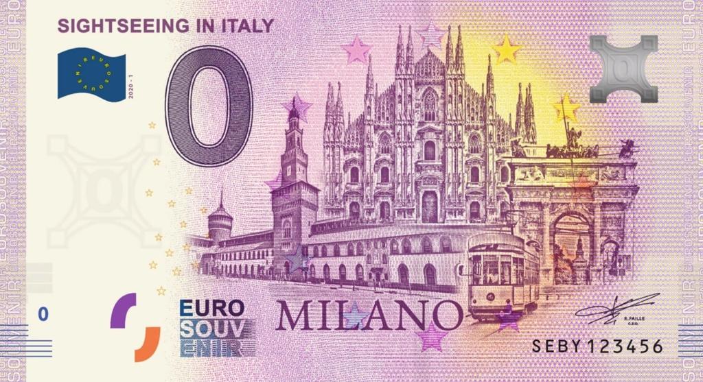 Billets Euro Souvenir 2020 Seby10