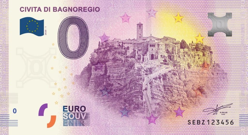 Billets Euro Souvenir 2020 Sebz10