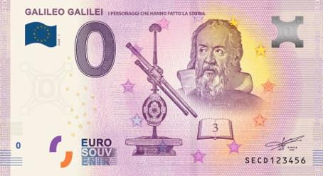 Billets Euro Souvenir 2020 Secd10