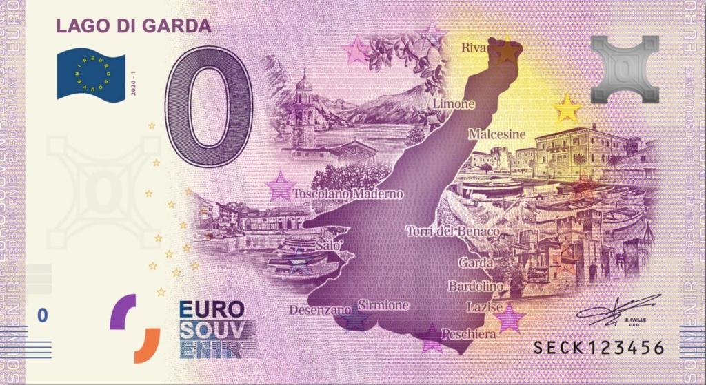 Billets Euro Souvenir 2020 Seck10