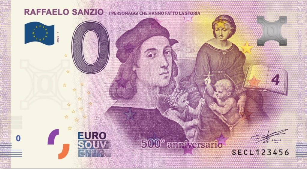 Billets Euro Souvenir 2020 Secl10