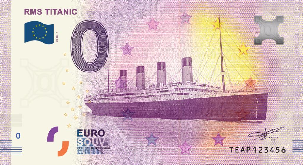 Billets souvenirs 2020 Titani10
