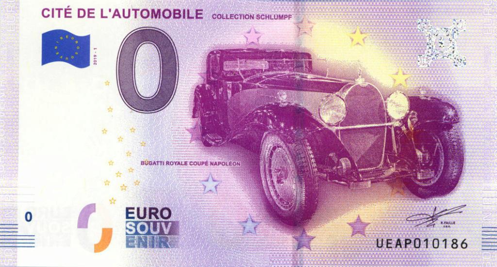 Billets 0 € Souvenirs  = 37 Ueap2010