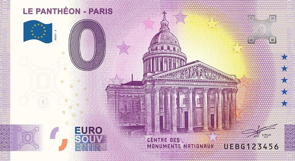 Billets 0 € Souvenirs  [Paris = 81] Uebg1010