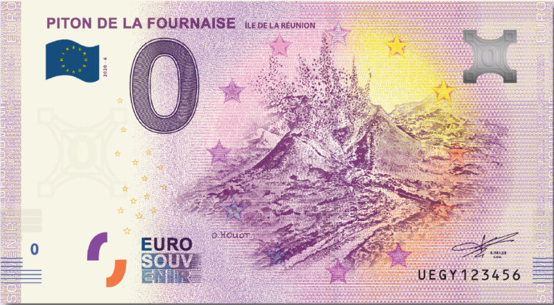 Billets Euro Souvenir = 15 Uegy410