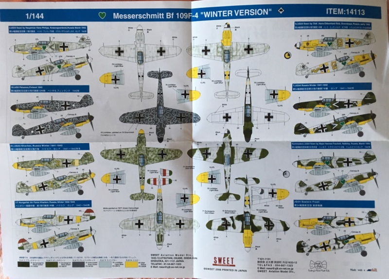 [SWEET] MESSERSCHMITT Bf 109 F-4 1/144ème Réf 14113 1ce61510