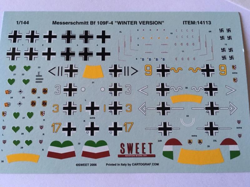 [SWEET] MESSERSCHMITT Bf 109 F-4 1/144ème Réf 14113 5d7dda10