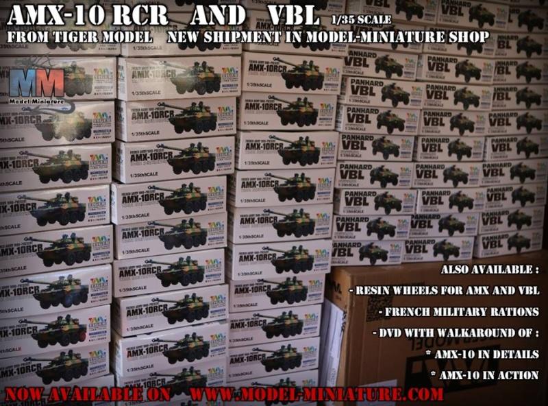 AMX-10 RCR, VBL, Tiger Model, roues, Rations-K, 1/35 Aa10