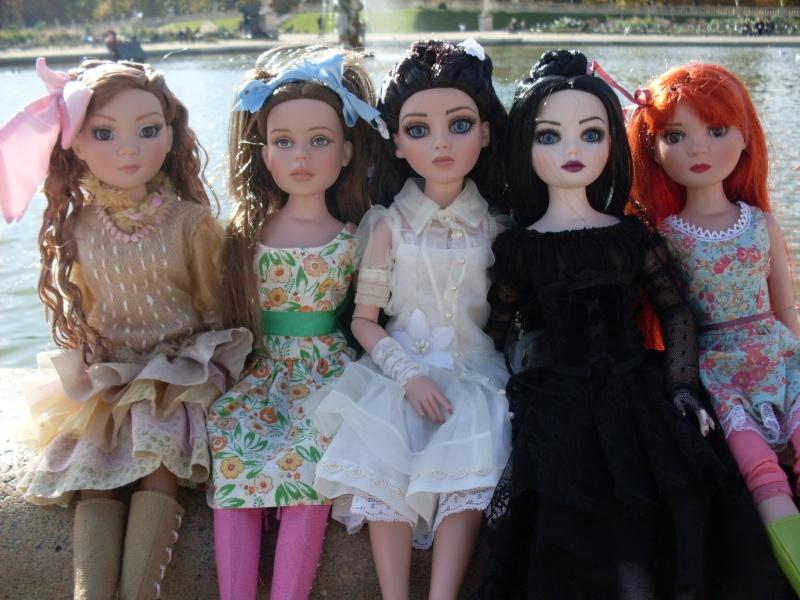 Ellowyne (tell) Amber et Prudence (ennui retreat) Dorothy (Oz) et Ayumi (pru wi2) : rencontre au jardin du luxembourg :) Sdc13410
