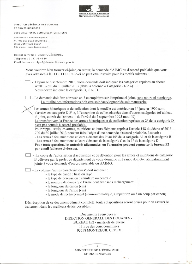 Introduction/importation d'armes, de munitions, d'éléments: du nouveau! - Page 4 Import10