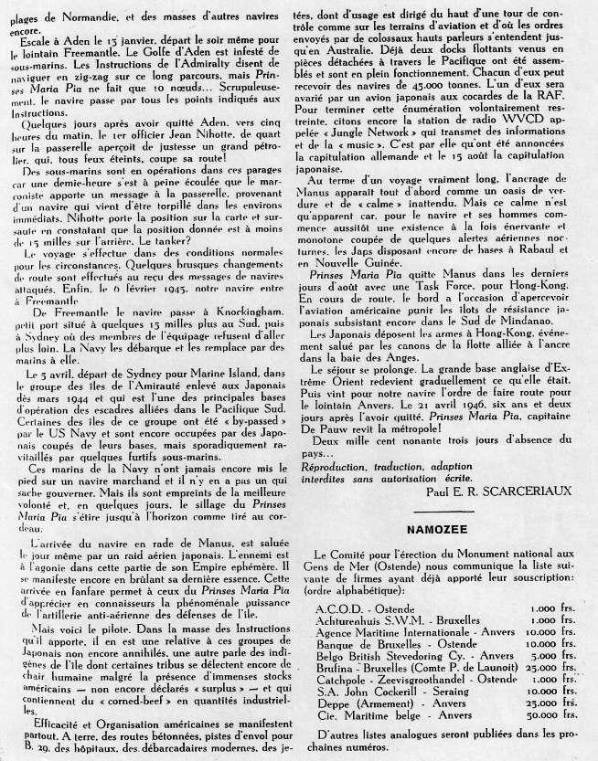 ms PRINSES MARIA PIA armement Dens Océan Numyri13