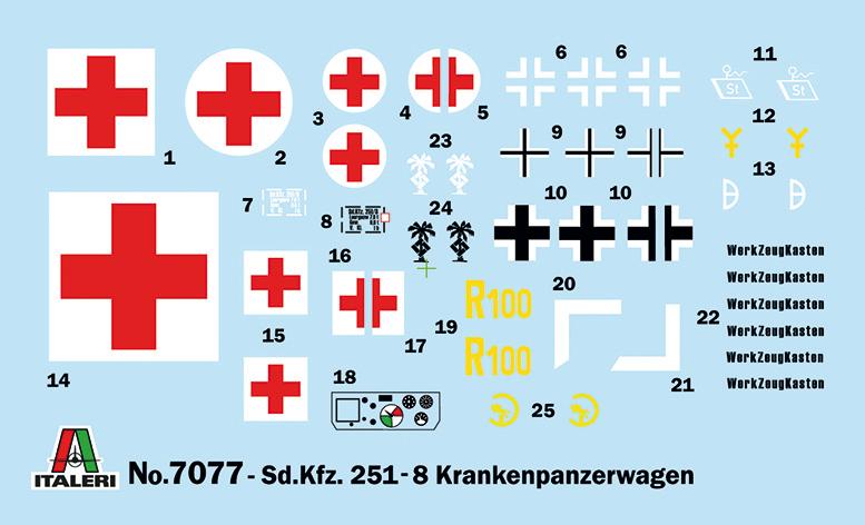 Sd.Ffz. 251/8 ambulance - Italeri 0114