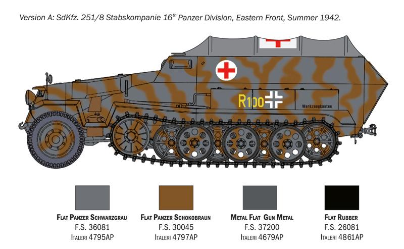 Sd.Ffz. 251/8 ambulance - Italeri 0214