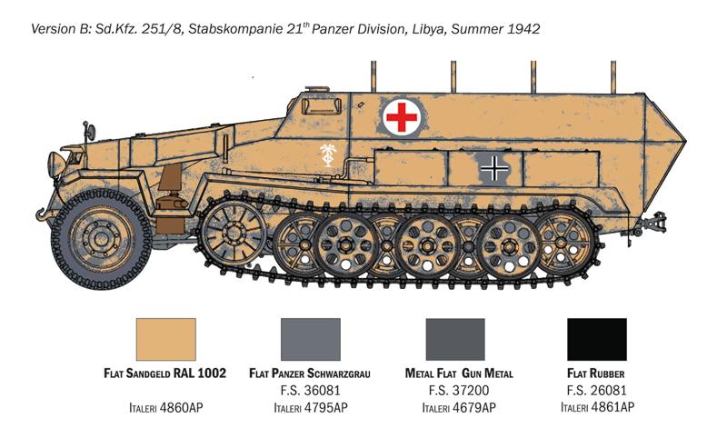 Sd.Ffz. 251/8 ambulance - Italeri Kzqeol10