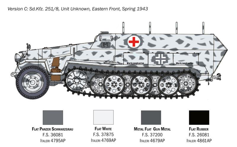 Sd.Ffz. 251/8 ambulance - Italeri Tqdn1e10